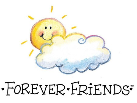 Forever Friends! - sunshine, cloud, writing, friends