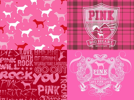 PINK collage - 3D and CG & Abstract Background Wallpapers ...