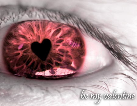 Be My Valentine - be my valentine, eye, love, heart