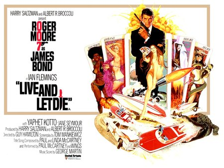Live and Let Die - roger moore, action, fiction, villians, james bond, spy, live and let die, adventure, guns, humor, girls