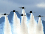 Blue Angels Flying in Delta Formation
