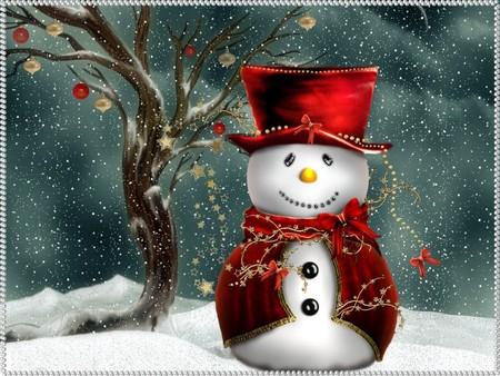 Festive Snowman Festlicher Schneemann 3d And Cg Abstract