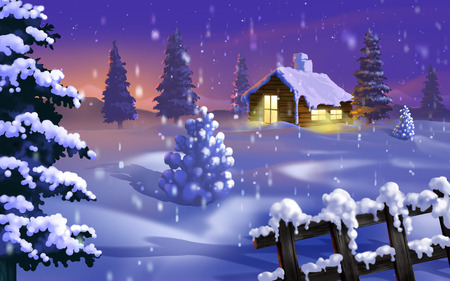 Silent Winter - christmas, widescreen, winter, 3d and cg, cold, xmas, holidays