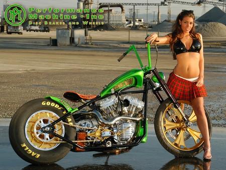 Hot Chick On Chopper