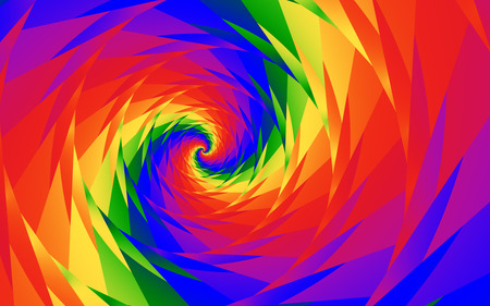 Rainbow Vortex - 3D and CG & Abstract Background ...