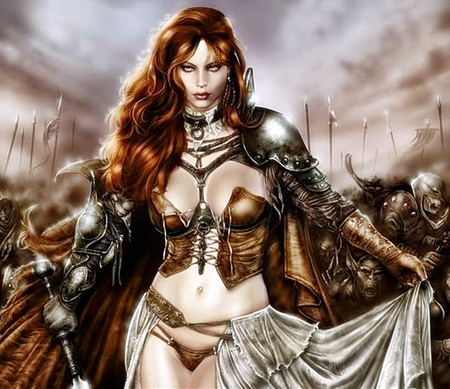 Queen Guinevere - queen guinevere, fantasy, warrior queen, abstract