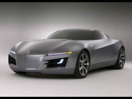 Acura Advanced Sports Car - advanced, prototype, car, front, acura, silver, sports