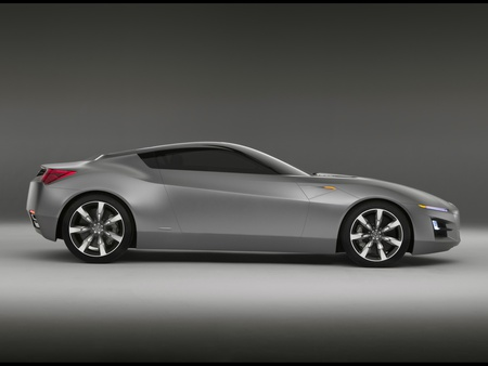 Acura Advanced Sports Car - advanced, side view, prototype, car, acura, silver, sports