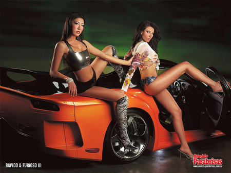 Car n Babes - 2, car, beautys, models