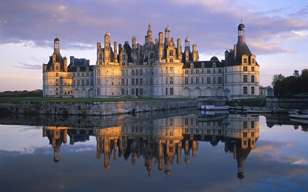 Chambord Castle, Loire Valley, France - architecture, castles, modern, windows 7, france
