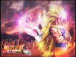 Son Goku SSJ3 vs Kid Buu