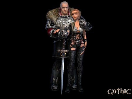 Gothic 1 - armor, fantasy, 3d and cg, graphics, weapon, gothic 1, rpg