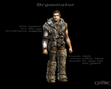 Gothic 1 - armor, fantasy, new camp, 3d and cg, graphics, gothic 1, organizer, rpg