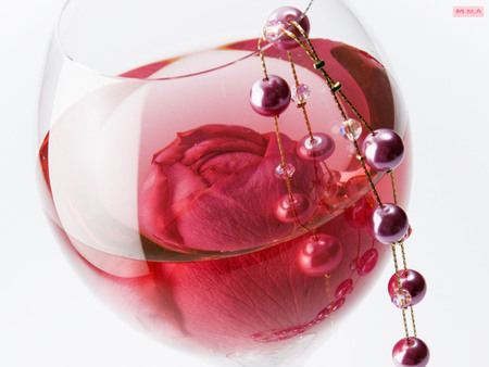 Pink Flower In A Glass