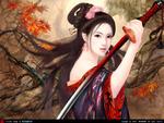 An Oriental Swordswoman