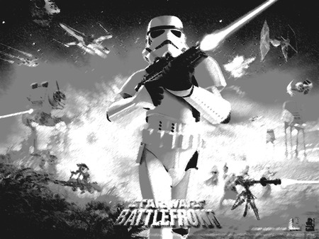 Star Wars Battlefront 1 Black and White - high, one, effect, battlefront, battle, 1, wallpaper, resolution, awesome, front, official, photoshop, wars, star