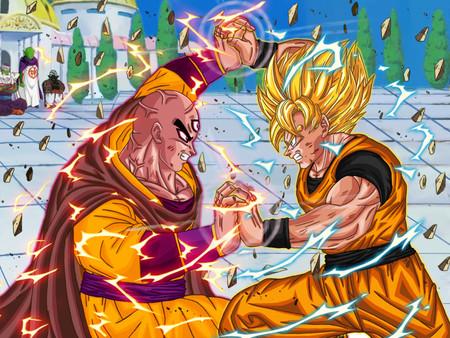 Mystic Tenshinhan Vs Goku Ssj2 Dragonball Anime