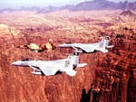 F15 Eagles Over Canyon