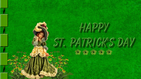 St Patricks Day 8 - pretty, green, victorian, flowers, st patricks day