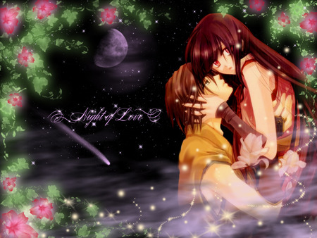 Night of love other anime background wallpapers on - Dark anime couples ...