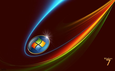 Windows 7 - blue, seven, 7, green, red, windows