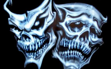 Comments on Sinister Theatrical Masks - Theater Wallpaper ...