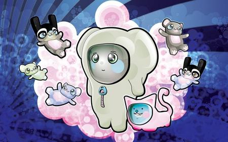 cute even bunny - bunny, system, win7, fun, fight, cute, windows