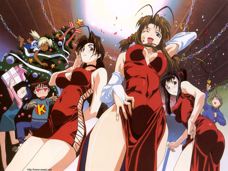 Love Hina - sexy, anime, girubatto, love hina