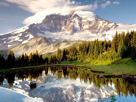Silent Day - reflection, its so cool, photography, sky, mountain lake, trees