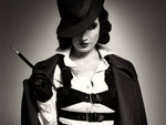 Dita Von Teese With Hat