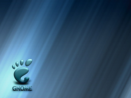 single feet - gnome, design, technology, abstract, 3d, simple, foot, screen, blue