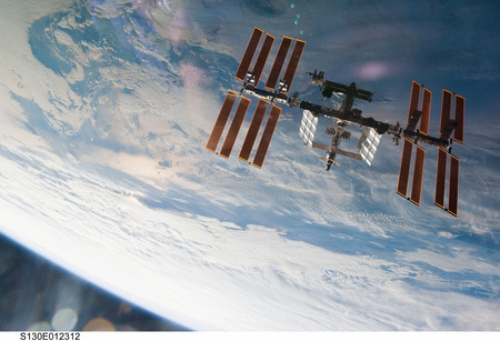 International Space Station from Above - orbit, space station, space, nasa