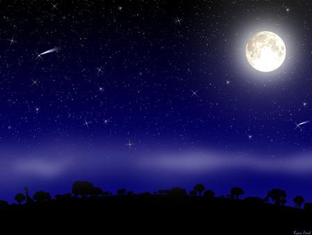 Moon  Fantasy.jpg - moon, fantasy, night, stars