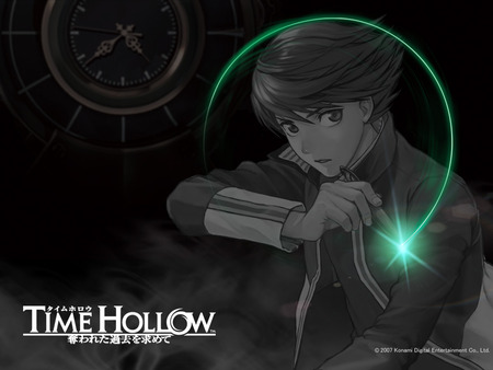 Time hollow - time hollow, nintendo, video games, ethan, black, pen, anime