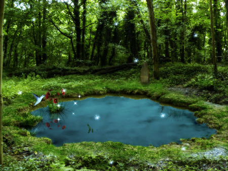 Magic Pond 3d And Cg Amp Abstract Background Wallpapers On