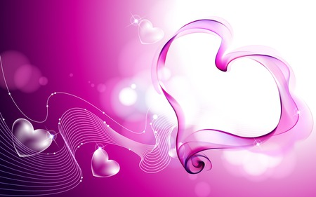 Valentine Heart 2 - valentine day, love, heart, beautiful, valentine, white, purlpe