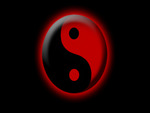 ying yang red and black