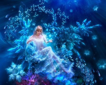 Snow flake princess fantasy abstract background for Pretty princess wallpaper
