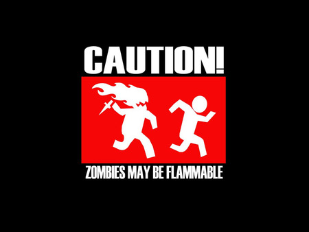 Zombie - flame, zombie, caution