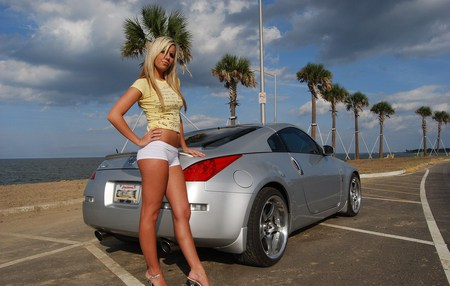 Model Nissan Girls And Cars Amp Cars Background Wallpapers