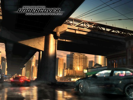 need for speed -undercover,under the bridge - videogame, ea game, fast, bridge, game, need for speed-undercover, chasing, city, racing, cars