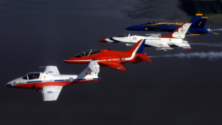 Snow Birds Red Arrows Thunderbirds, Blue Angels - thunderbirds, red arrows, blue angles, 1080i, snow birds, wallpaper, Entropy, 1080p, 1920 x 1080