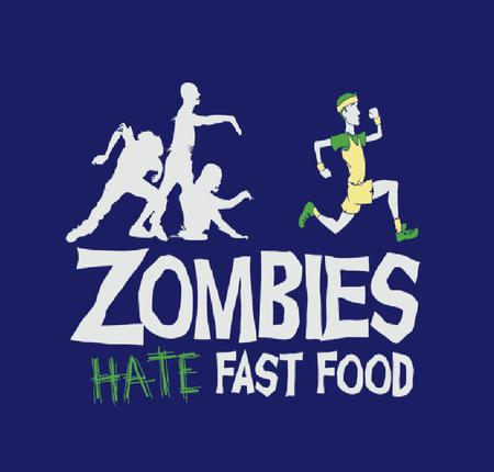Zombies Hate Fast Food - funny, zombies