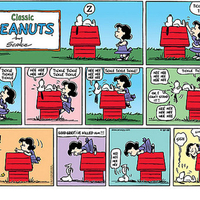 snoopy and lucy in doghouse