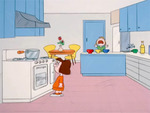 marcie and peppermint patty in kitchen