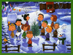 charlie brown and friends in winter