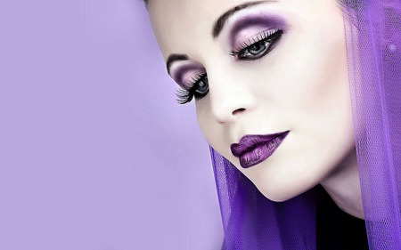 Purple - photography, beauti, face, makeup, eyes, sexy, beautiful, purple, model, woman, jackki, girl, female, people