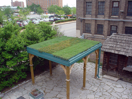 Earth Ways Green Roof Pavilion - green roof blocks, green roofs, 2008 greenroofs calendar, kelly luckett