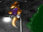 Renamon on a Lightpost