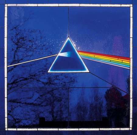 Pink Floyd - Dark Side of the Moon [SACD] Cover - window, music, dark side of the moon, prism, rainbow, waters, gilmour, sacd, pink floyd, blue